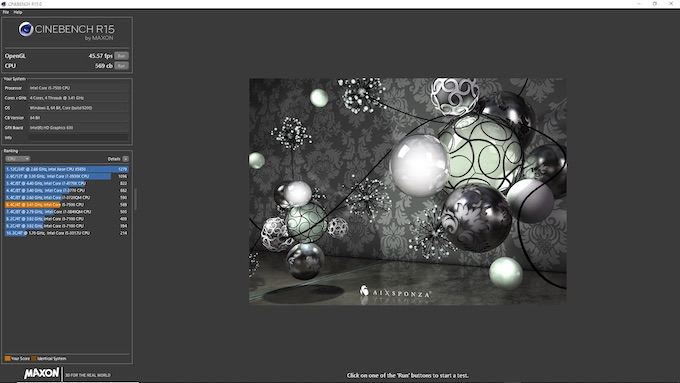 CINEBENCH Core i5