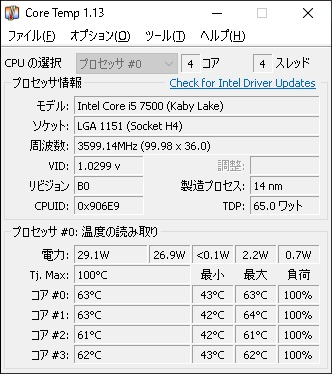 Core Temp Core i5